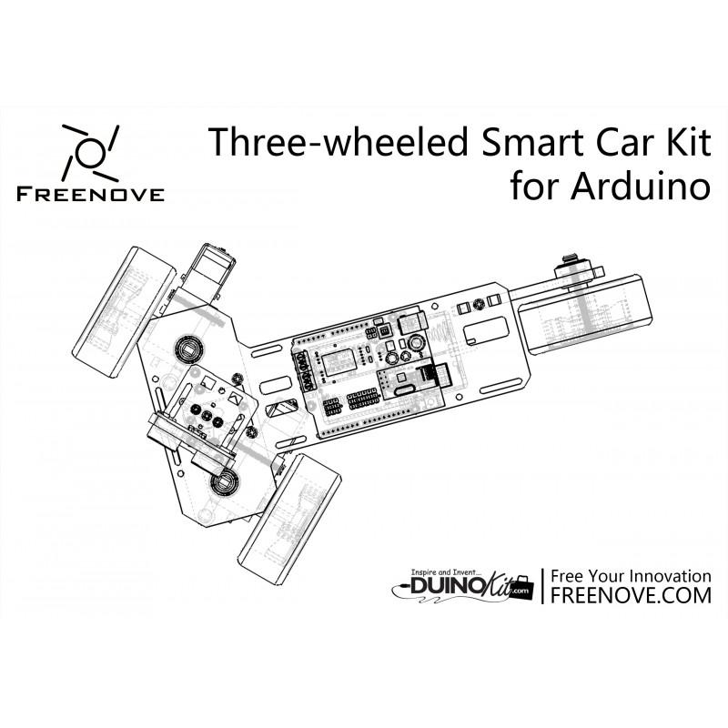 arduino controlled 3-wheeled car - duinokit