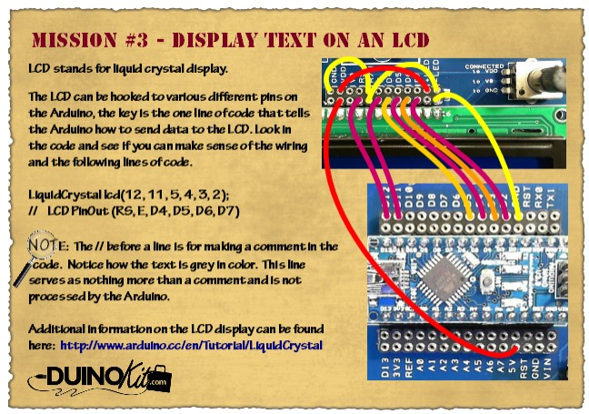 Mission 3 - Display Text on an LCD