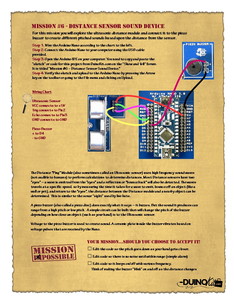 Mission 6 Distance Sensor Sound Device For Alarm This Is The Circuit 252 1511880777 Sens